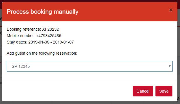 No3 process booking manually
