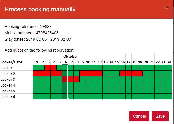 No4 process booking manually calendar